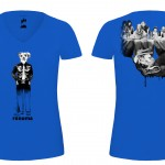 T-shirts Café 2014-BLEU f